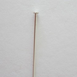 Head Pin 38mm Argentium - Pack of 10