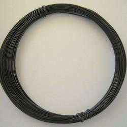 12 Gauge Black Aluminium Round Wire - 13m