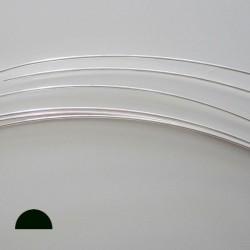 14 Gauge Half Round Half Hard 10% Sterling Silver-Filled Wire - 1 Metre