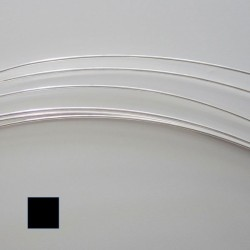 22 Gauge Square Half Hard 10% Sterling Silver-Filled Wire - 5 Metres