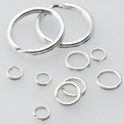 Split Ring 4mm ID - Sterling Silver