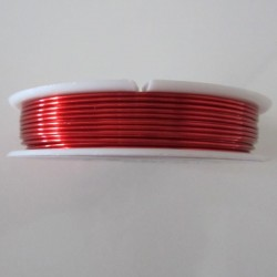 18 Gauge Round Red Coloured Copper Wire - 9 Metres