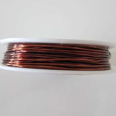 18 Gauge Round Brown Coloured Copper Wire - 9 Metres