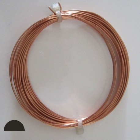 18 gauge Half Round Dead Soft Copper wire - 4 Metres - Inspire With Wire