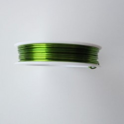 24 Gauge Round Lime Green Coloured Copper Wire - 18 Metres
