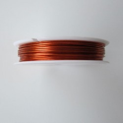 28 Gauge Round Orange Coloured Copper Wire - 35 Metres
