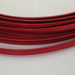 Red Anodised Flat Aluminium Wire 4mm X 1.2mm - 5m