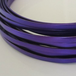 Purple Aodisded Flat Aluminium Wire 4mm X 1.2mm - 5m