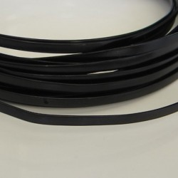 Black Anodised Flat Aluminium Wire 4mm X 1.2mm - 5m