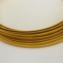 Gold Anodised Flat Aluminium Wire 4mm X 1.2mm - 5m