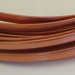 Copper Anodised Flat Aluminium Wire 4mm X 1.2mm - 5m