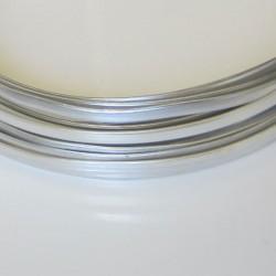 Silver Anodised Flat Aluminium Wire 4mm X 1.2mm - 5m