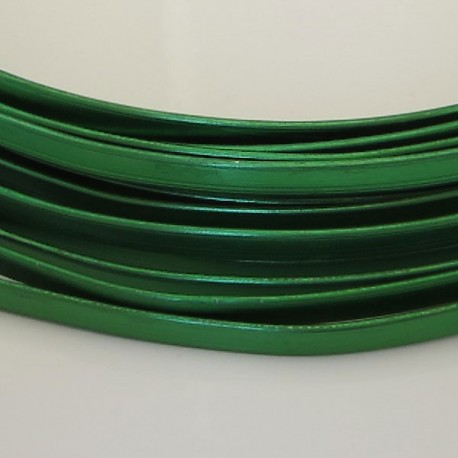 Green Anodised Flat Aluminium Wire 4mm X 1.2mm - 5m