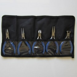 Plier Set - 5 Pieces in a roll up case