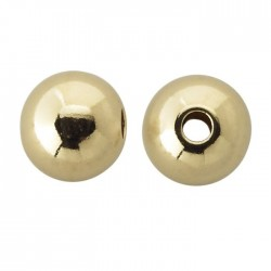 2mm 12K Gold Filled Large Hole Seamless Look Bead - Pack 50