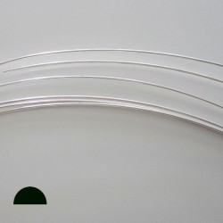 18 Gauge Half Round Half Hard 10% Sterling Silver-Filled Wire - 3 Metres