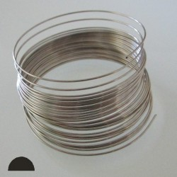22 Gauge Stainless Steel 3/4 Hard Half Round Wire - 15 Metres