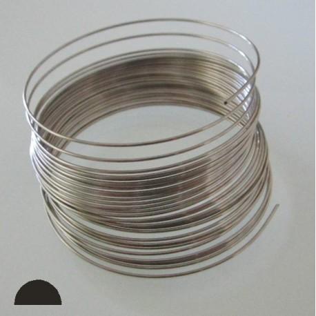 22 Gauge Stainless Steel 3/4 Hard Half Round Wire - 15 Metres