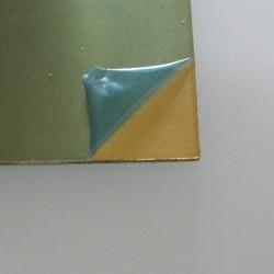 24 Gauge Jewellers Bronze Half Hard Sheet Showing Removable Coating