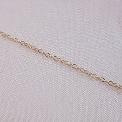 Flat Cable 1.6mm Gold Filled Chain - 1 Metre