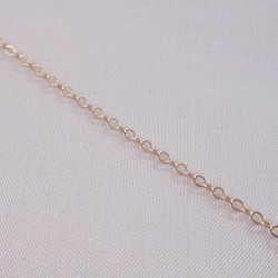 Flat Cable 1.6mm Rose Gold Filled Chain - 1 Metre
