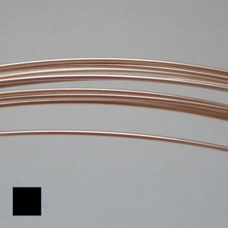 21 gauge Dead Soft Square 14k Rose Gold Filled Wire - 1 Metre