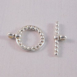 Argentium Rope Style Toggle Clasp - 12mm Ring Diameter