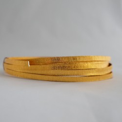 Gold Anodised Flat Textured Aluminium Wire 5mm X 1mm - 5m