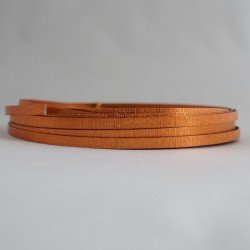 Copper Anodised Flat Textured Aluminium Wire 5mm X 1mm - 5m
