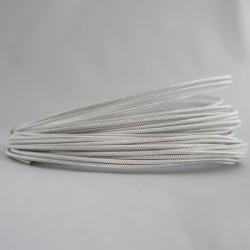 12 Gauge Silver Textured Aluminium Round Wire - 13m