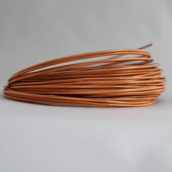 12 Gauge Copper Textured Aluminium Round Wire - 13m