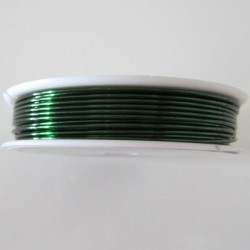 28 Gauge Round Green Coloured Copper Wire - 35 Metres