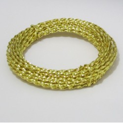 Gold Anodised Twisted Aluminium Wire 3mm X 1.3mm - 10m