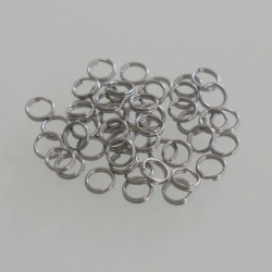 Split Ring 12mm OD - Stainless Steel Pack of 50
