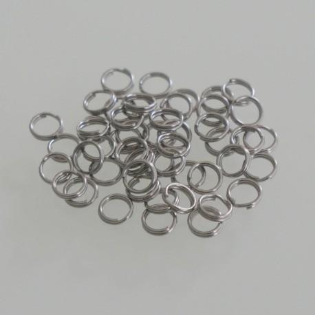 Split Ring 12mm OD - Stainless Steel Pack of 50