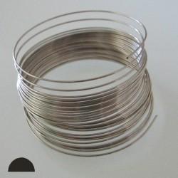 18 Gauge Stainless Steel Dead Soft Half Round Wire - 5 Metres