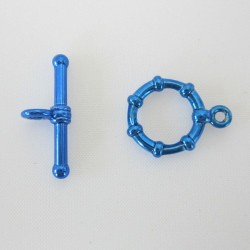 Blue Toggle - 12mm - Pack of 2