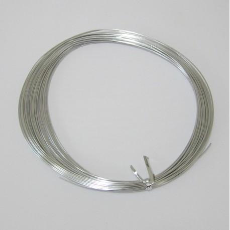 12 Gauge Silver Aluminium Round Wire - 13m - Inspire With Wire