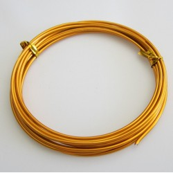 12 Gauge Golden Aluminium Round Wire - 3m