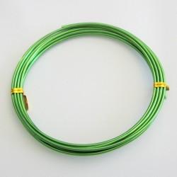 12 Gauge Lime Aluminium Round Wire - 3m