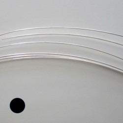 28 Gauge Round Dead Soft 10% Sterling Silver-Filled Wire - 10 Metres