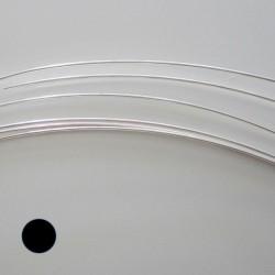14 Gauge Round Half Hard 10% Sterling Silver-Filled Wire - 1 Metre