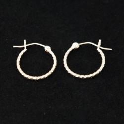 16mm Glitter Tube Hoop Earrings