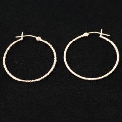 30mm Glitter Tube Hoop Gold Filled Earring