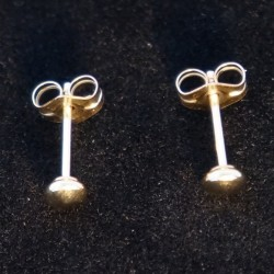 3mm Ear Studs - Saucer Shape Gold Filled Earring