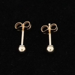 3mm Ear Studs - Classic Ball Shape Gold Filled Earring