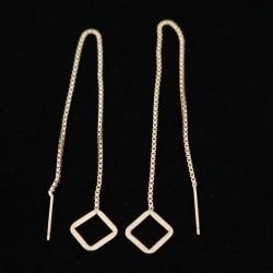 10.5mm Flat Diamond Ear Threads Gold Filled Earring
