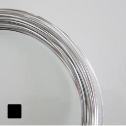 18ga Square Anodised Aluminium Wire Silver - 13m