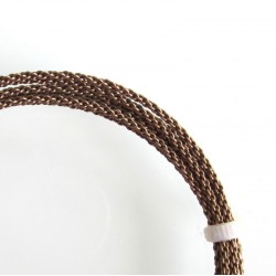 14 Gauge Braided Antique Brass Finished Copper Wire - 1.5 Metres