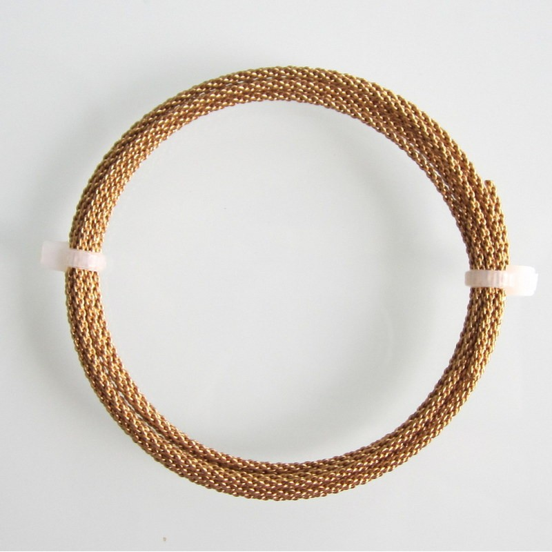 14 Gauge Braided Brass Finished Copper Wire 1 5 Metres